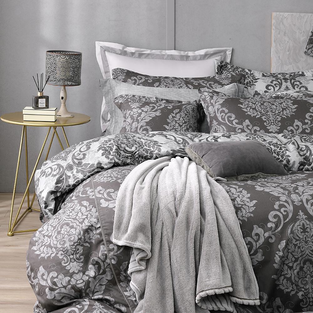 OLIVIA  Caesar  標準雙人床包被套四件組 200織精梳純棉