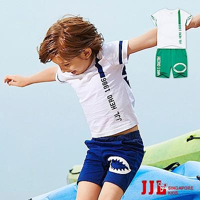 JJLKIDS 小英雄純棉休閒運動風套裝(2色)