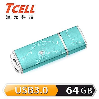 TCELL 冠元-USB3.0 64GB 絢麗粉彩隨身碟-Tiffany藍