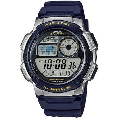 CASIO 雷霆世界戰士運動電子錶-藍(AE-1000W-2A)/43mm