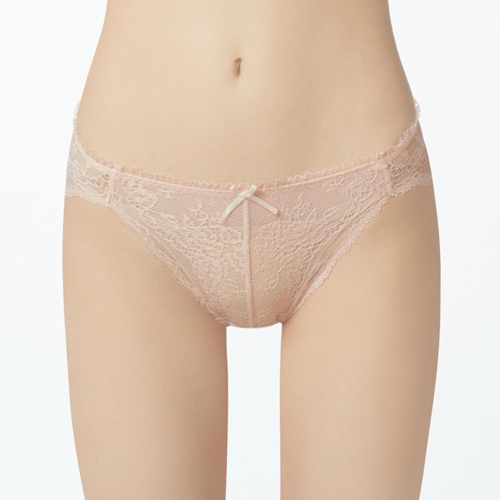 曼黛瑪璉 法式香吻低腰高衩三角內褲(粉膚橘)