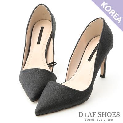 D+AF 唯美星空.閃耀亮片尖頭高跟鞋*黑