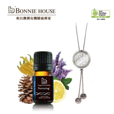 Bonnie House 健康能量精油5ml+澳洲原民祈福符雕精油擴香頸鍊