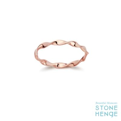 STONEHENGE 斯通亨奇 14K玫瑰金紐結造型戒指