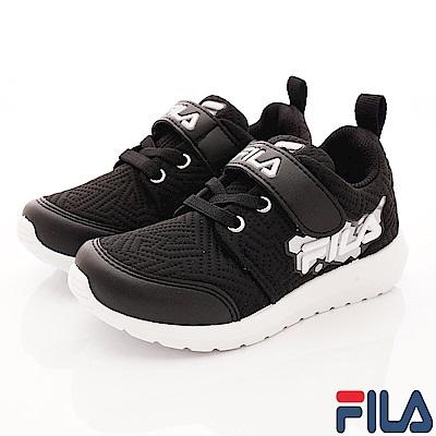 FILA頂級童鞋 輕量簡約運動款 EI23S-014黑(中大童段)