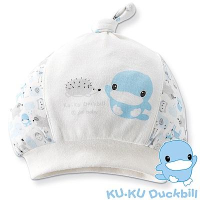 KU.KU酷咕鴨-竹纖有機棉精靈百搭帽(藍/粉)