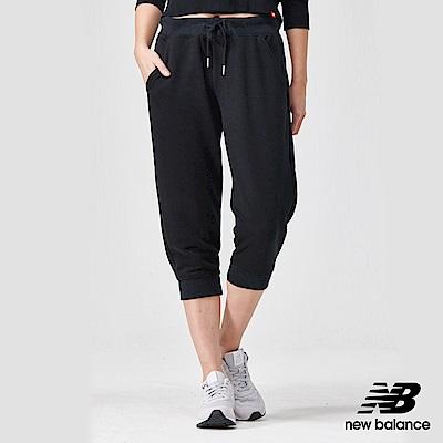 New Balance粉彩針織束口七分褲AWP91572BK_女黑色