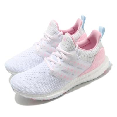 adidas 慢跑鞋 UltraBoost DNA 女鞋 愛迪達 襪套式 愛心 緩震 穿搭推薦 白 粉 GZ2802