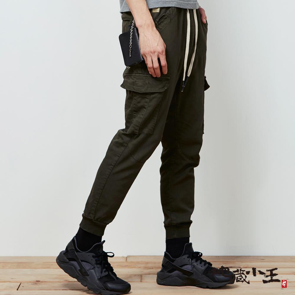 地藏小王 BLUE WAY擅變我型系列-多口袋針織縮口褲_墨綠