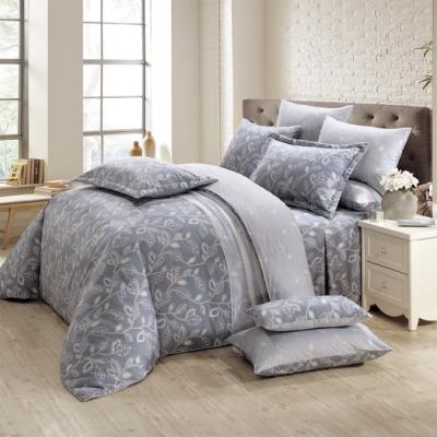 鴻宇 100%精梳棉 奧德曼 灰 雙人七件式兩用被床罩組