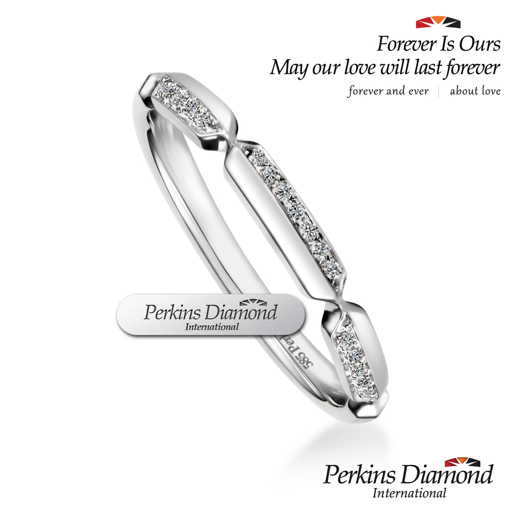 PERKINS 伯金仕 - Dance系列 0.05克拉 14K金鑽石戒指