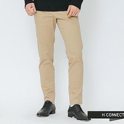 H:CONNECT 韓國品牌 男裝-質感純色西裝褲-卡其