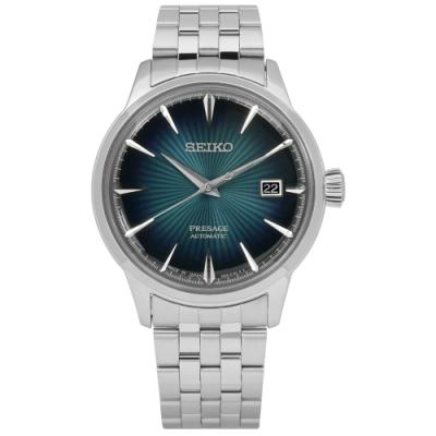 SEIKO 精工 PRESAGE 現代品味機械不鏽鋼手錶-深綠色/40mm