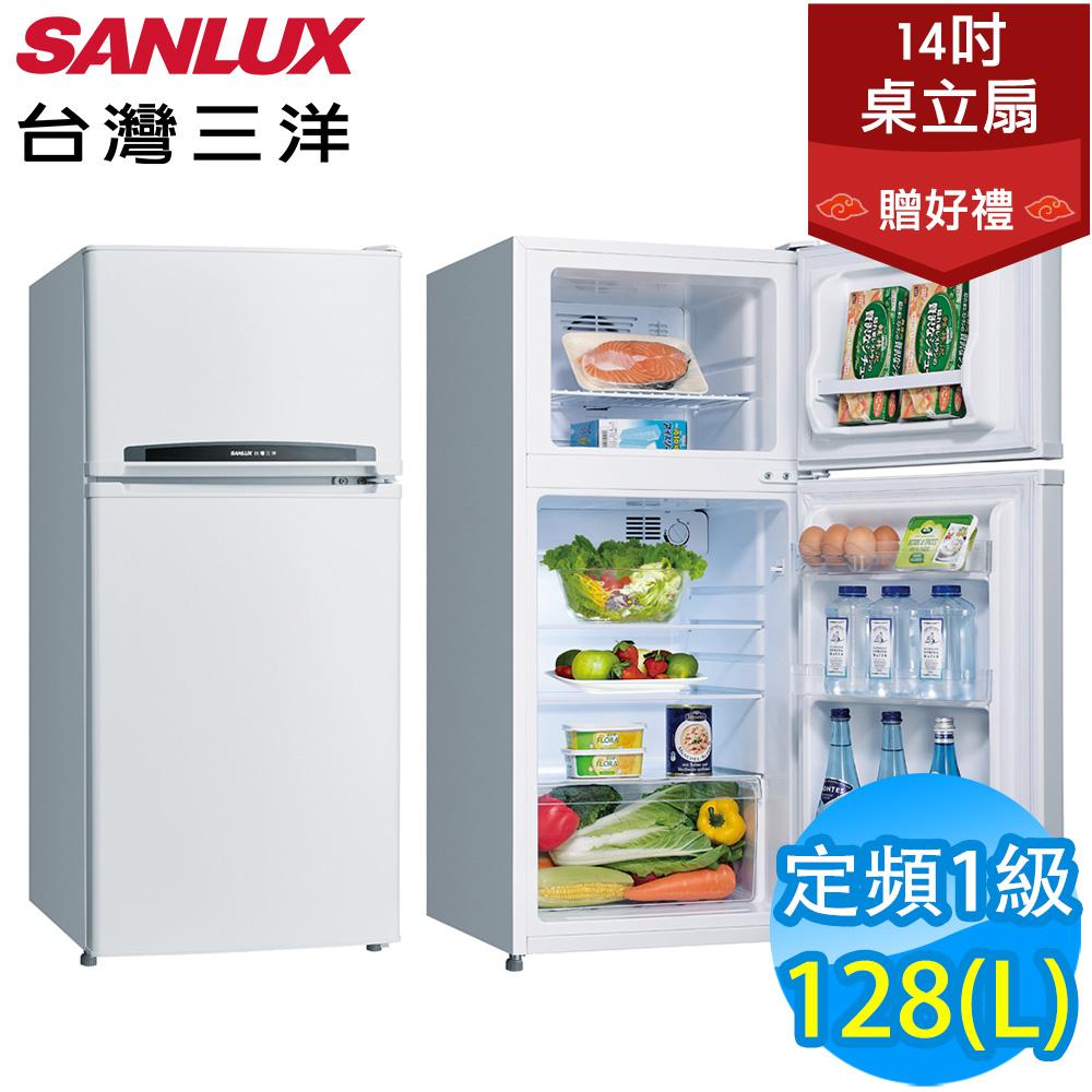 SANLUX台灣三洋 128L 1級定頻2門電冰箱 SR-C128B1 送風扇