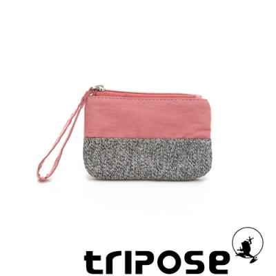 tripose漫遊系列岩紋x微皺尼龍多功能手拎袋(小)粉紅