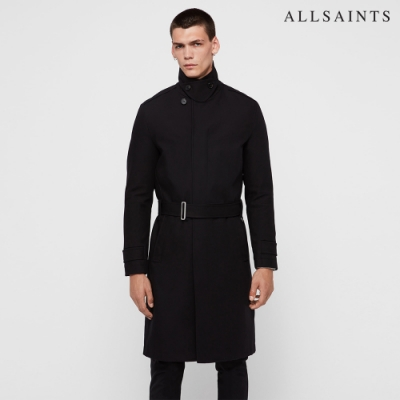 ALLSAINTS APSLEY MAC 舒適棉質英倫風排釦大衣