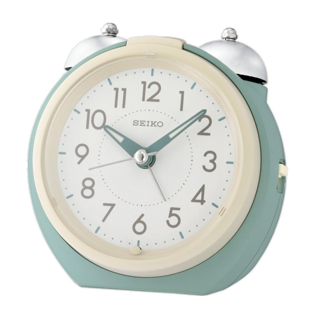 SEIKO 日本精工 大聲公 滑動式秒針 貪睡 鬧鐘(QHK054M)綠/10.5X11.2cm