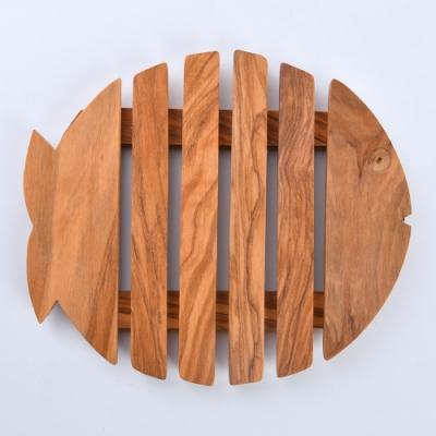Arte in olivo 義大利 橄欖木 隔熱墊 鍋墊 桌墊 魚 18cm 義大利製
