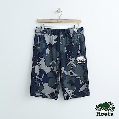 男裝Roots 迷彩棉質短褲-藍