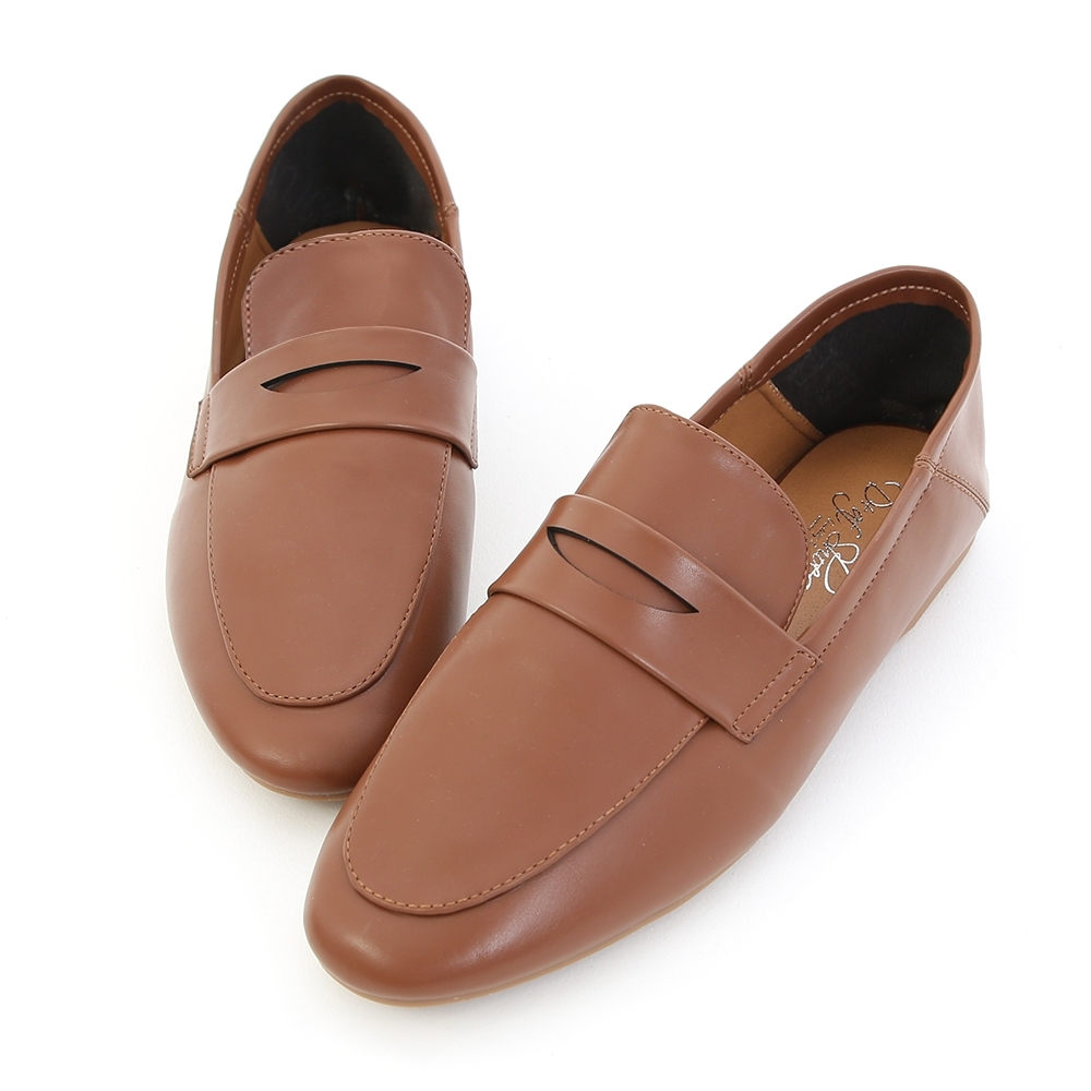 D+AF 日常印象.經典款可後踩樂福鞋*棕