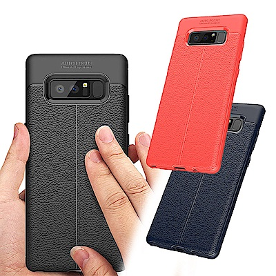 VXTRA Samsung Galaxy Note 8 手感皮紋風 軟性手機殼