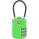 《TRAVELON》TSA三碼軟繩式防盜密碼鎖(綠)