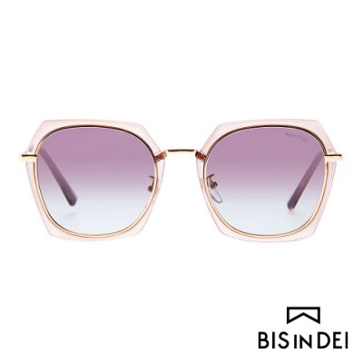 BIS IN DEI 不低調個性多角框太陽眼鏡-棕