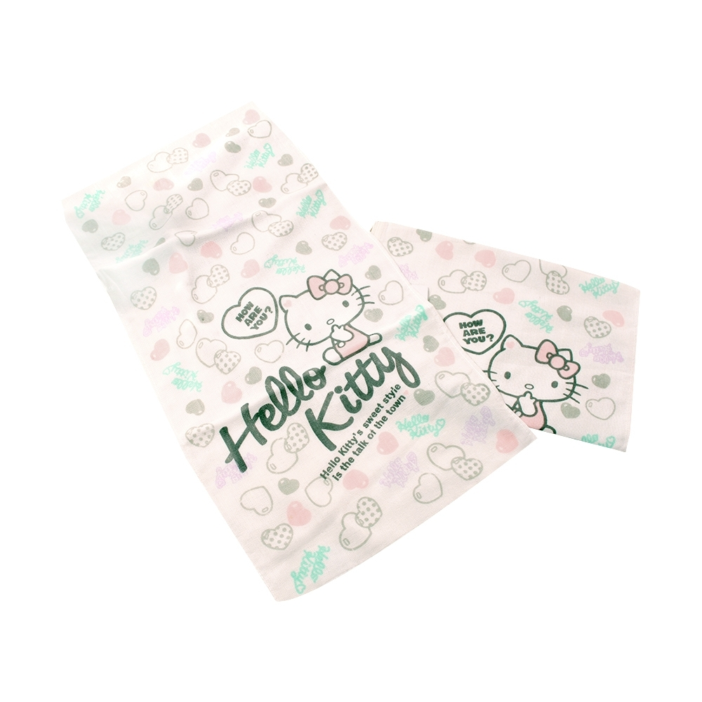 Hello kitty純棉紗布毛巾(二條組) a70299 魔法Baby