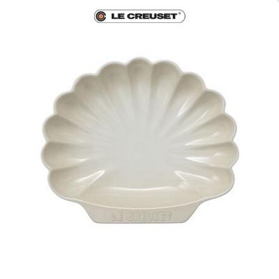 [任4件6折] LE CREUSET 瓷器貝殼盤(中)(蛋白霜)