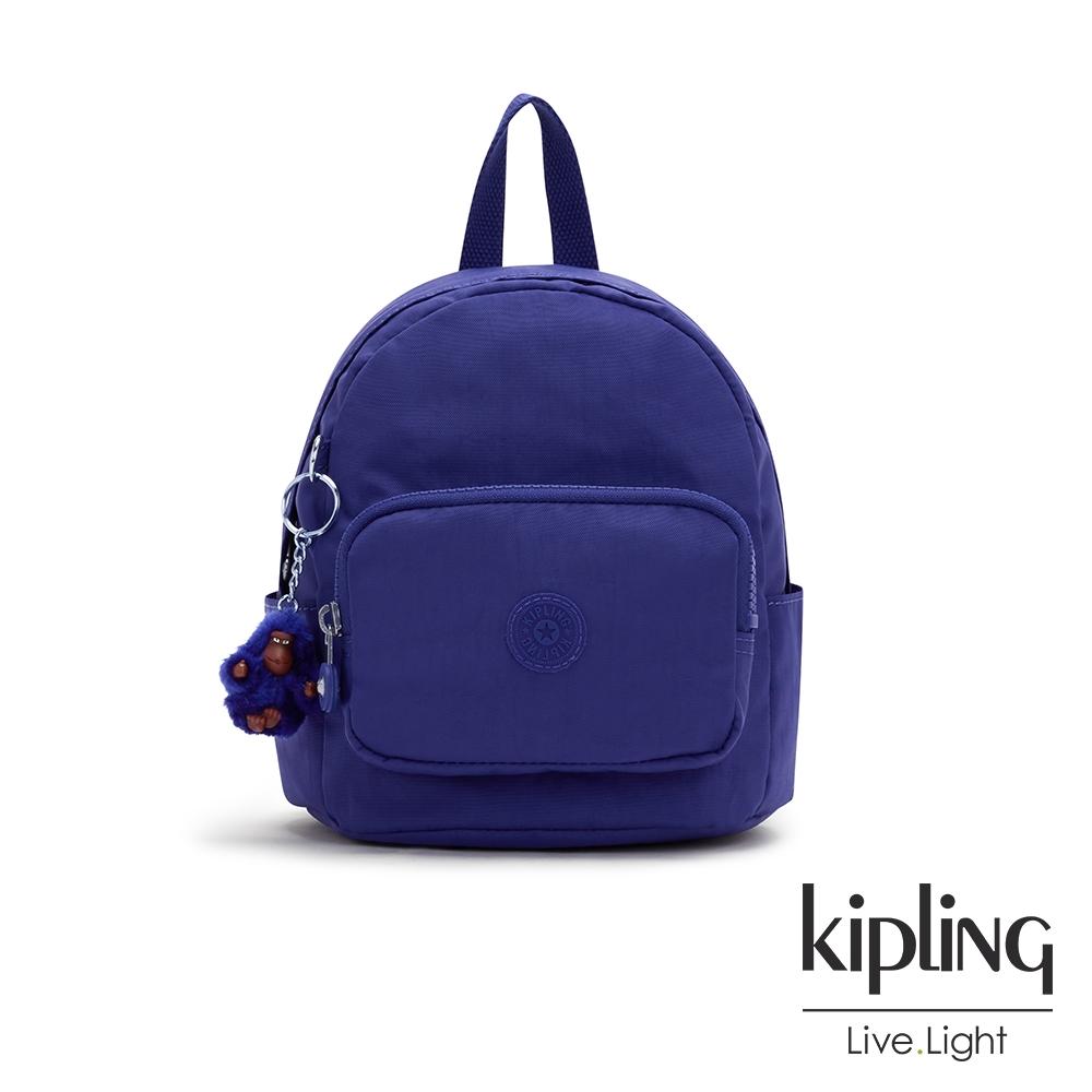 Kipling 氣質琉璃藍輕巧迷你後背包-MINI BACKPACK