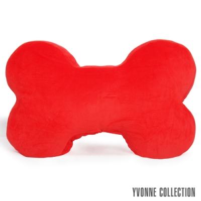 Yvonne Collection 素面大骨頭抱枕-紅