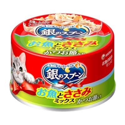銀湯匙 貓罐頭雞肉+柴魚片(70g/罐)