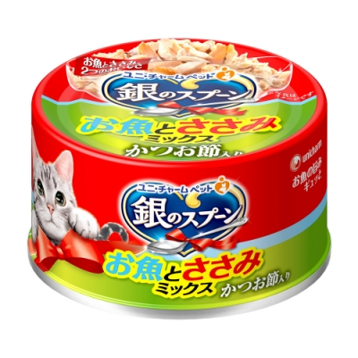 銀湯匙 貓罐頭雞肉+柴魚片(70g x 24罐)