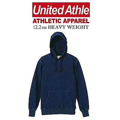 日本United Athle 12.2oz丹寧連帽T UA高磅denim