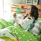 戀家小舖 / 單人床包被套組  遇見朵朵-兩色可選  100%精梳棉  台灣製