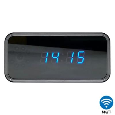 【CHICHIAU】WIFI無線網路高清4K電子鐘CK3-針孔微型夜視攝影機+影音記錄