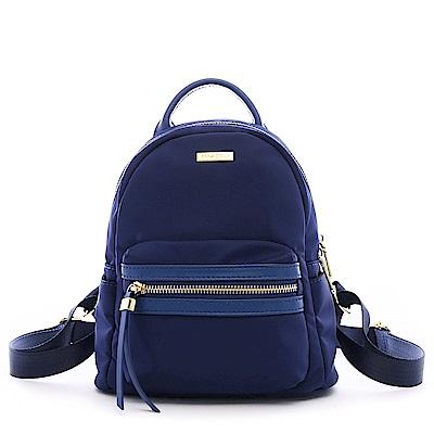 ANNA DOLLY 尼龍後背包-小版 靛寶藍