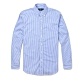 Polo Ralph Lauren 經典刺繡小馬條紋長袖襯衫-藍白色 product thumbnail 1