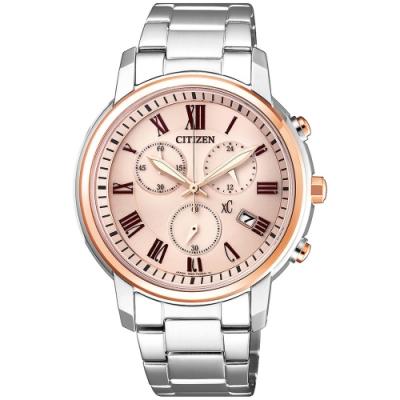 CITIZEN星辰 xC光動能羅馬甜心限定款時尚計時女錶(FB1434-50Y)-38mm