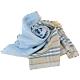BURBERRY Vintage 雙面格紋輕盈羊毛絲綢圍巾(水藍) product thumbnail 1