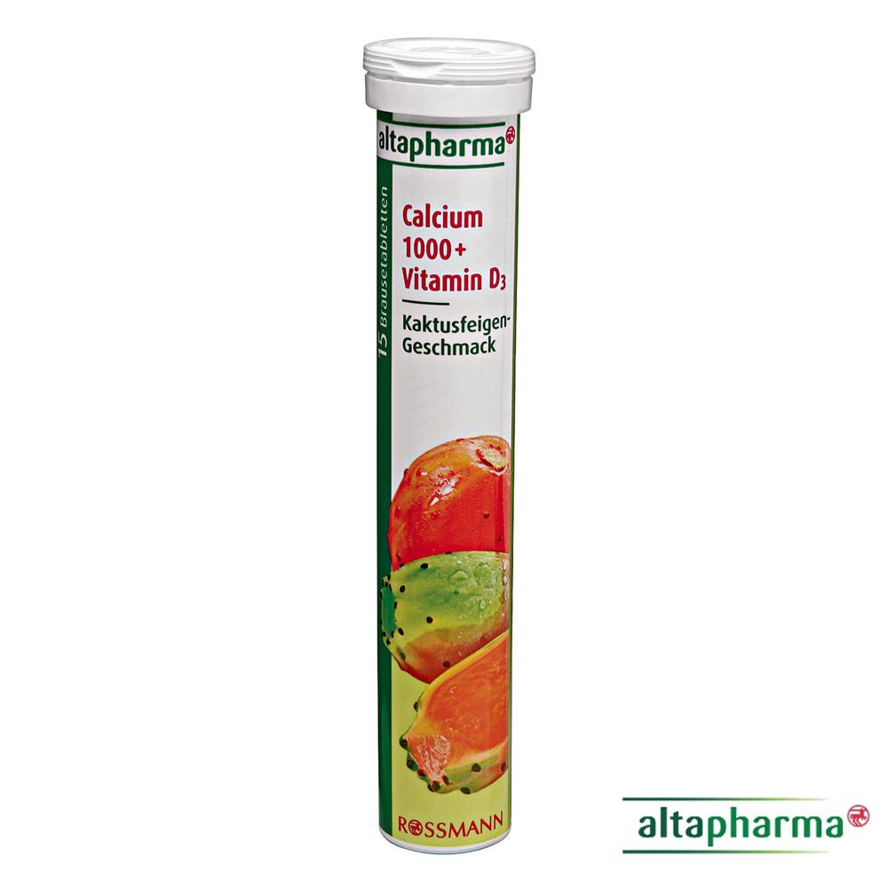 ROSSMANN 德國發泡錠-鈣+維生素D3(仙人掌果口味) 15錠/條