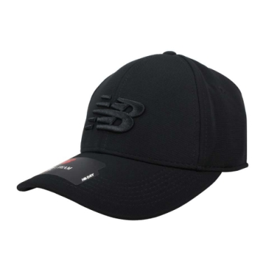 NEWBALANCE 棒球帽-鴨舌帽 遮陽 防曬 帽子 NB 刺繡 MH934307BK 黑