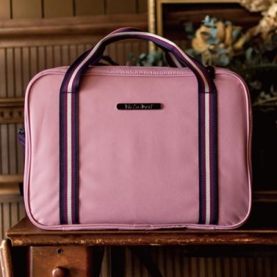 【NaSaDen】雪佛包 肩背/手提/穿套行李箱 相當一個16吋的行李箱(馬卡龍粉紅)