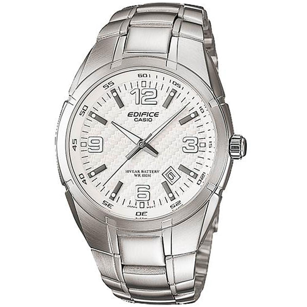 CASIO卡西歐EDIFICE 10年電力腕錶(EF-125D-7A)-白