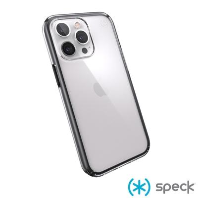 Speck iPhone 13 Pro Presidio Perfect-Clear Geo透明防摔殼-黑框