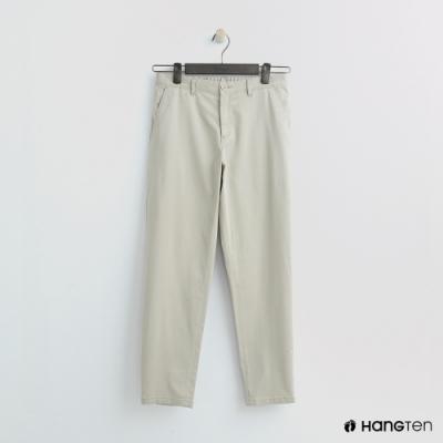 Hang Ten - 女裝 -簡約素面直筒褲 - 卡其