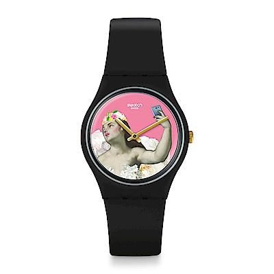 Swatch PINK & VERSA 跨界經典-女神美拍手錶