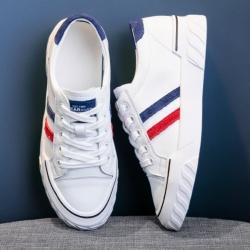 LN 復古風拼色真皮小白鞋-2色