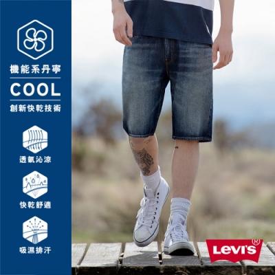 Levis男款505修身直筒牛仔短褲Cool Jeans直向彈性延展