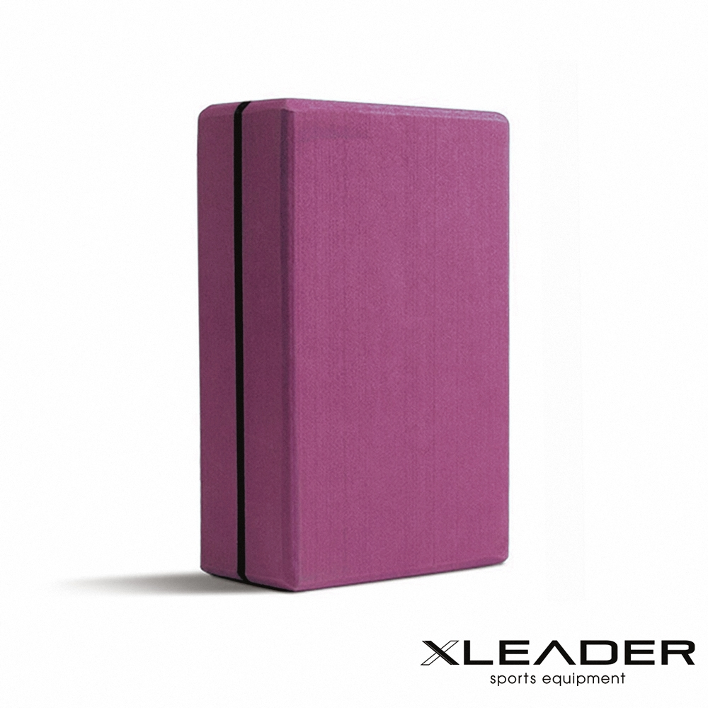 Leader X 環保EVA高密度防滑 加硬加重瑜珈磚 深紫 - 急